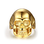 Ring Non Stone Skull Halloween Party Daily Casual Christmas Gifts Jewelry Steel Men Ring 1pc,8 9 10 11 Gold