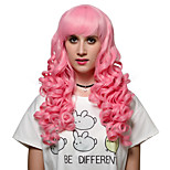 Pink long hair style, Europe and the United States fashion wig.