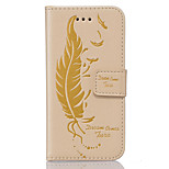 PU Leather Material Feather-Sided Embossed Pattern Mobile Phone Cases for Huawei P9 Lite/P9
