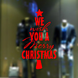 Christmas Window Sticker Contemporary , Art Deco 57.7*58CM