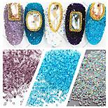 1000pcs/bag 1.2mm Many Colors Zircon Rhinestones Micro Diamonds Mini 3D Nail Art Rhinestone Nails Decorations