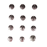 24pcs Mixed Batch Of New Alloy Parts Twelve Constellation Round Accessories