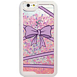 Back Flowing Pattern Bow PC Hard Flowing Quicksand Liquid Case For Apple iPhone 6s Plus/6 Plus/6s/6/5s/5/SE