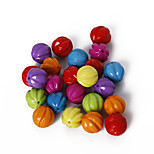Beadia Assorted Color Acrylic Beads 12mm Pumpkin Plastic Loose Beads(50g/approx 55pcs)