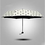 The New Sunny Umbrella Folding Umbrella Sun Umbrellas Uv Female Vinyl Super Sunscreen Korea