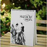 A4 Blank Sketchbook Fresh Loose-Leaf Coil This Means Painting Graffiti