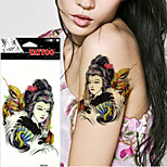 5 Pcs  Halloween Horror Yellow Snake Japanese Women Temporary Tattoo Terrorist Fake Stickers