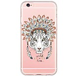 Tiger Pattern Soft Ultra-thin TPU Back Cover For iPhone 6s Plus/6 Plus/6s/6/5s/5