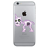 Skull Water Rainbow Unicorn  Case Transparent TPU Material Phone Case for iPhone 6 6S 6 Plus 6S Plus