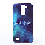 Starry Sky Pattern TPU Material Phone Case for LG K10/K7