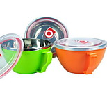 Korean Stainless Steel Bowl Of Instant Noodles Bowl Of Fresh Color Double Insulated Sealed Lid Snack Cup Gifts