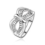 Women's Luxury Unique 925 Silver Plated Ring