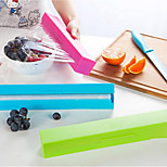 Plastic Wrap Cutter Candy-Colored Fresh Sealed Stainless Steel Kitchen Gadgets 171G