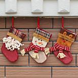 3cover) (verschiedene Stile) neumodischen Hausverzierung Weihnachtsdekorationen Weihnachten Strumpf