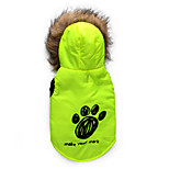 Gatos / Perros Abrigos / Saco y Capucha Rojo / Verde Invierno Flores / Botánica Mantiene abrigado, Dog Clothes / Dog Clothing-DroolingDog