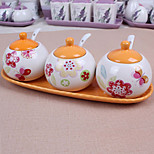 Ceramic Dressing Pots  Orange