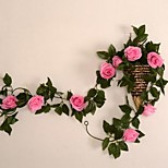 Simulation Diamond Rose Vine Rattan Vines Air Conditioning Pipe Decorative Floral Flower Restaurants