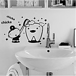 Cartoon Wall Stickers Plane Wall Stickers Decorative PVC Material Re-Positionable Home Decoration