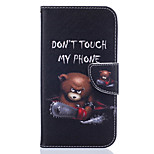 Cartoon Bear Pattern PU Leather Full Body Leather Case with Card Slots for Motorola Moto G4 Plus/G4
