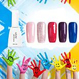 Nagellack UV Gel 12 1 Glitzer / UV Farbgel / Gelee / schimmernd Tränken weg von Long Lasting