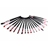 20 Makeup Brushes Set Synthetic Hair Portable Wood Eye Others