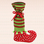 1pc Christmas Candy Bag Green Elf Boot Stocking Xmas Festival Party Decoration Gift