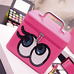 Double Eye Makeup Box Portable Large Capacity Storage Bag Cosmetic Bag Wash