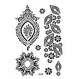 1pc Black Henna Temporary Tattoo Woman Finger Body Art Non Toxic Tattoo Sticker BJ028