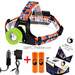 U`King® Headlamps / Headlamp Straps LED 2000LM Lumens 3 Mode Cree XM-L T6 18650Adjustable Focus / Rechargeable / Compact Size / High