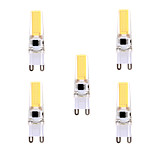 YWXLIGHT 5 Pcs G9 LED Bi-pin Light T 1 COB 5W 400-500 lm Warm White / Cool White Dimmable /  AC 220-240 / AC 110-130 V