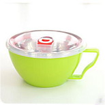 9246 Korean Instant Noodles Bowl With Lid Large Stainless Steel Lunch Box Lunch Box Double Insulated Against Hot