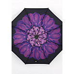 Purple Chrysanthemum Sunny And Rainy Umbrella