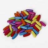 beadia perline colore acrilico assortiti 4x11 mm perline sparse forma ovale in plastica (50g / ca 400pcs)