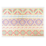 1pc Flash Gold Metallic Temporary Tattoo Woman Colorful Strap Wrist Bracelet Waterproof Tattoo Sticker VT343