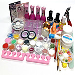 26Pcs Acrylic Powder Glitter UV Gel Cleanser Primer Nail Set Nail Polish 15ML