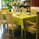 Pastoral Style Solid Color Fruit Green Canvas Cloth Tablecloths (140 * 140cm)