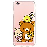 Cartoon Bear Pattern TPU Ultra-thin Translucent Soft Back Cover for Apple iPhone 6s 6 Plus SE/5s/5
