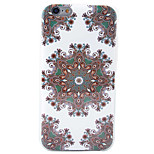 HD Painted Blue Floral Pattern Material TPU Phone Case For iPhone SE 5s 5 6s 6 6s Plus 6 Plus