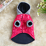 Dog Coat Red / Blue Winter Solid Keep Warm, Dog Clothes / Dog Clothing