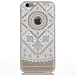 3D Relief Feel Colour White Lace Flowers Pattern PC Material Phone Shell for iPhone 5 SE 5S 6 6S 6Plus 6S Plus