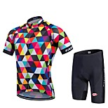 Bike Cycling Tights Padded Shorts Jersey + Bib Shorts Clothing Sets Suits Men's Unisex Short SleeveHigh Breathability