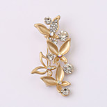 European and American fashion zircon Pearl Brooch Series 018
