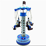 Novelty Toy  Puzzle Toy  Wind-up Toy Novelty Toy  Merry-go-round Metal Blue For Kids