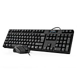 HY-MA75 Waterproof Wired Double USB Keyboard & Mouse Suit