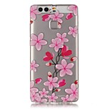 Rose Petals Pattern Strong Relief Feel Painted TPU Soft Case Cover For Huawei P9