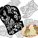 2pcs New Tattoo Foot Tattoo Stencil Henna Tatoo Paste Template Hand Painting Art For Left and Right Foot