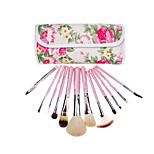 12 Makeup Brushes Set Goat Hair Full Coverage Wood Face ShangYang(Brush Package)