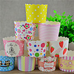 Birthday Party Tableware-50Piece/Set Cupcake Wrappers Petals  Classic Theme CylinderNon-person alised Multi Color