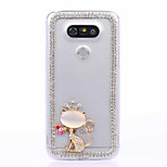 DIY Crown and Cat Pattern PC Hard Case for Multiple LG G3 G4 G5 G5SE V10 K10 K7 K4