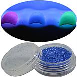 1 Bottle Nail Art Beautiful Noctilucent Powder Colorful Color Glitter Shining Nail Beauty Decoration Optional YG08